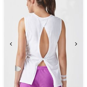 Work out tank, open back
